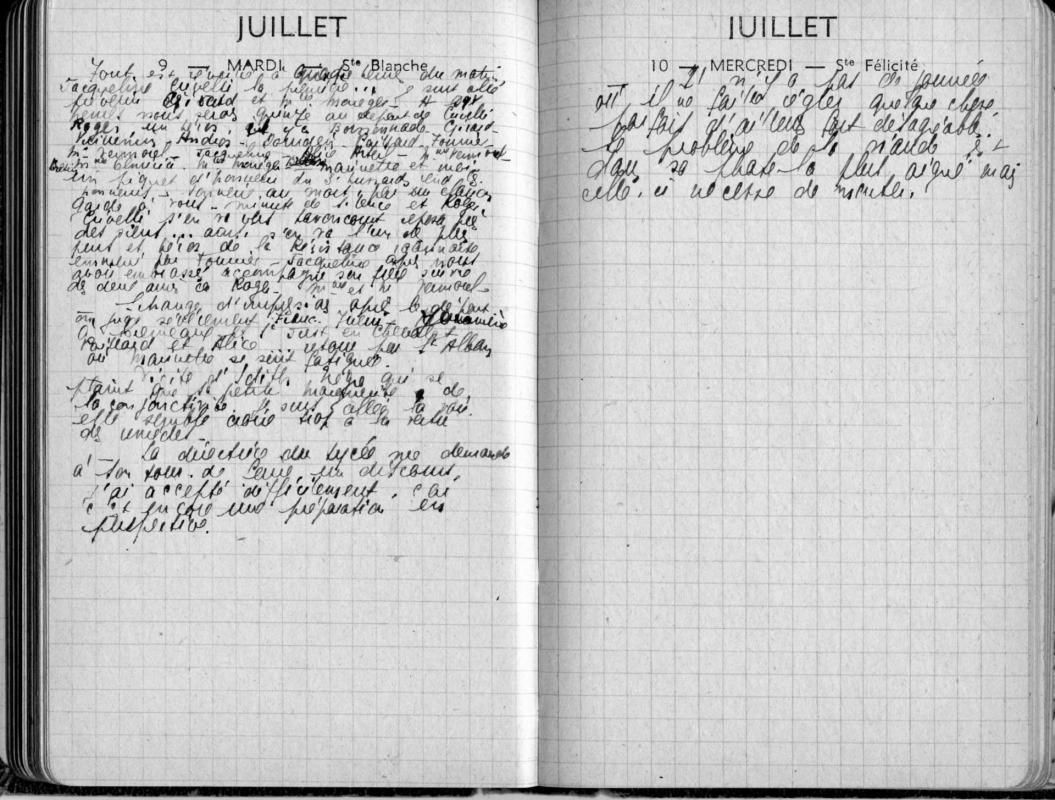 Detail journee du 9 juillet 1946 e vieux 1