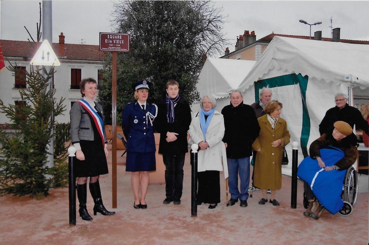 Inauguration du squarte elie vieux roanne