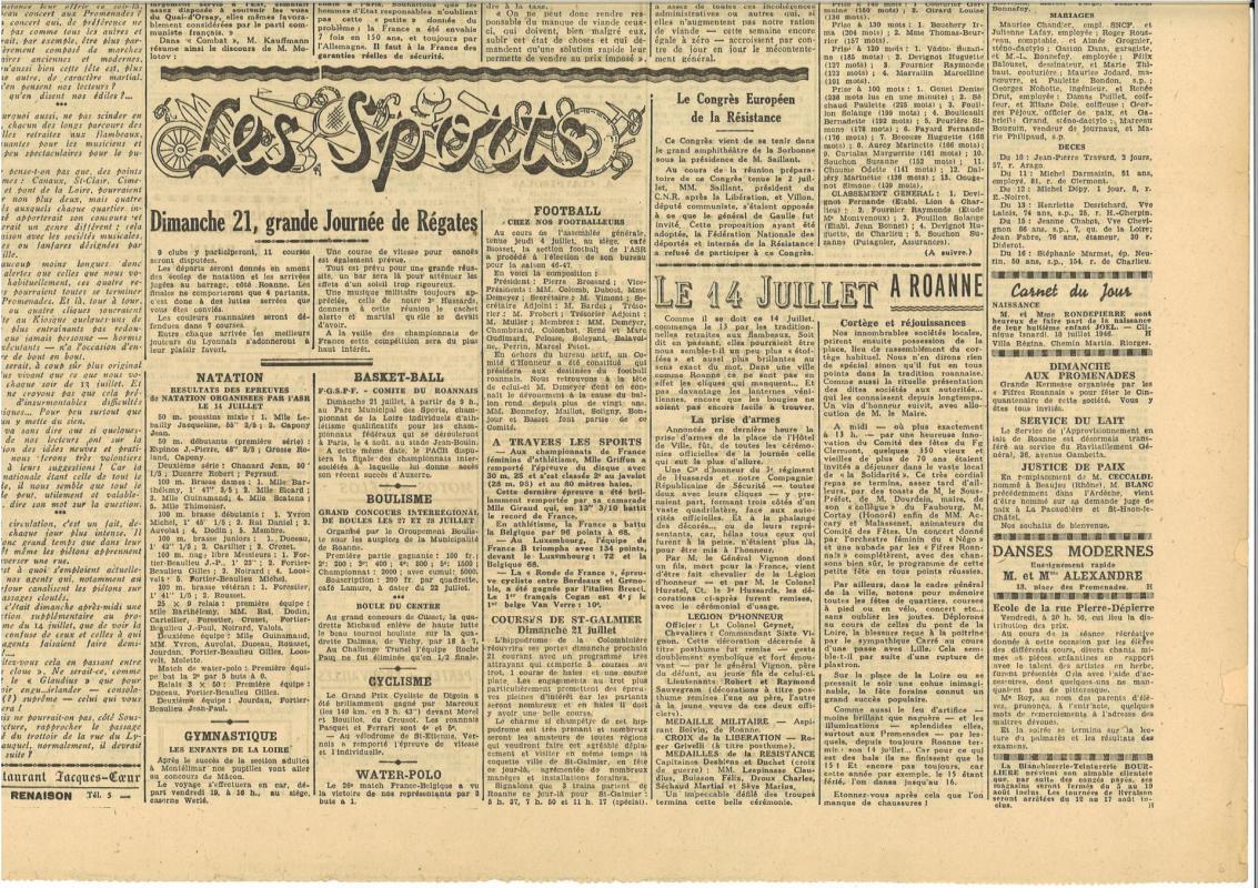 Pays roannais du 18 juillet 1946