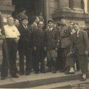 Roanne - 22 Aout 1944 à l'issue du défilé - 18 heures