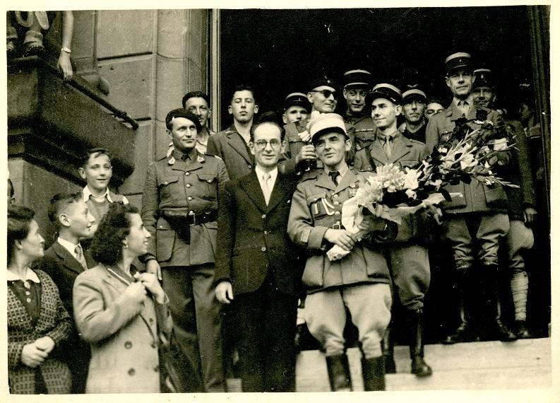 Visite du Commandant Marey - 19 septembre 1944